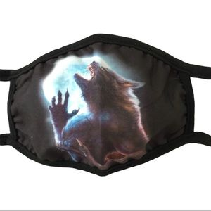 Mask Werewolf Howling Snarling at the Moon